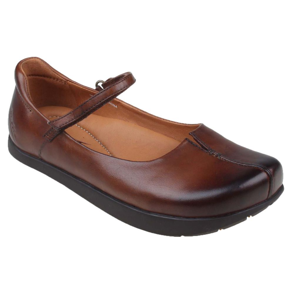 95b8ec6e68a21 Women's Almond Vintage Leather Kalso Earth Shoe Solar II Shoes ...