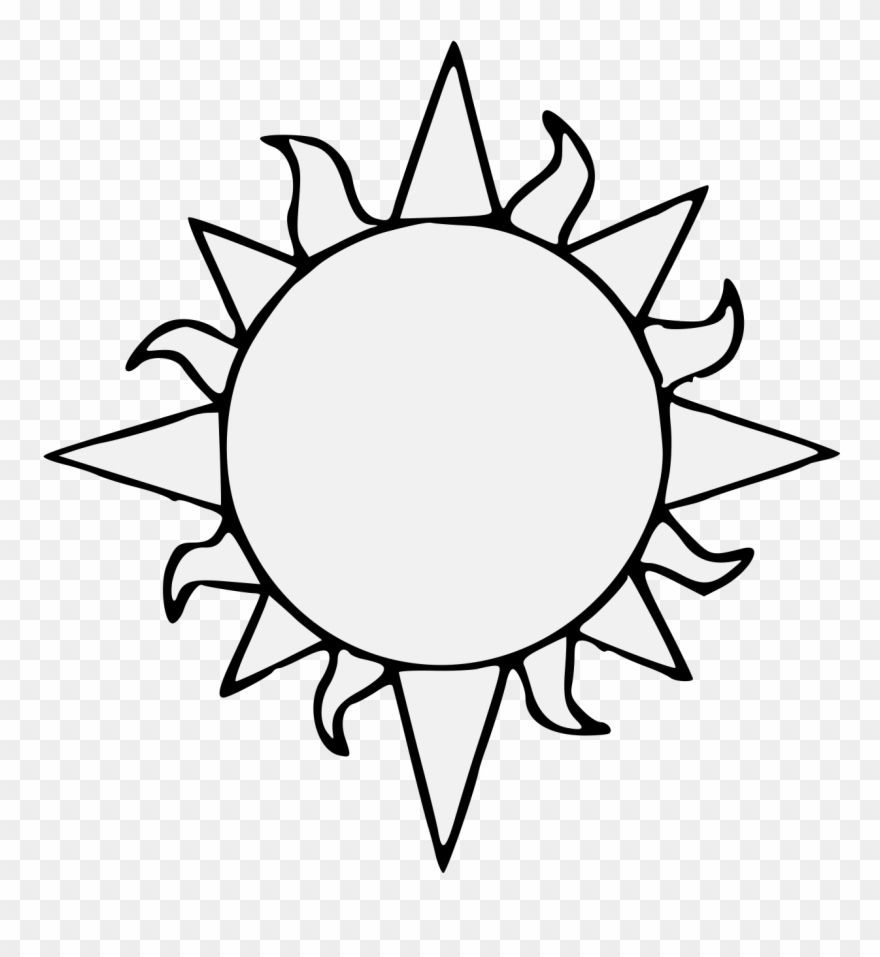 Sun Clipart Black And White Png Clipart Black And White Clip Art Black And White Clouds