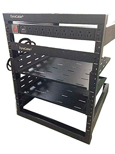 Dynacable 12u Heavy Duty Open Frame Mount Fixed Rack For Cabinets It Networking And More 20 Inch Depth Matte Black 250lb Capac Homeaudio Matte Black