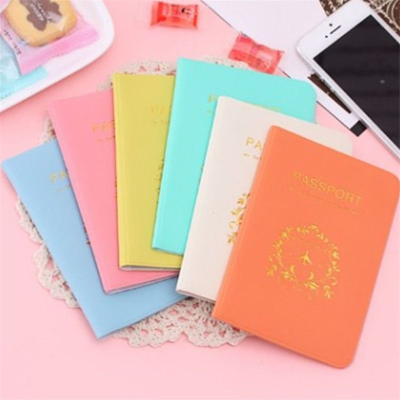 Fashion Cover Travel Passport Cover Card Case Women Men Travel