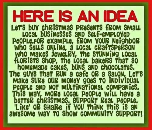 Here Is An Idea Let S Buy Christmas Presents From Small Local Businesses And Self Employed People Florist Shop Small Business Saturday Local Florist