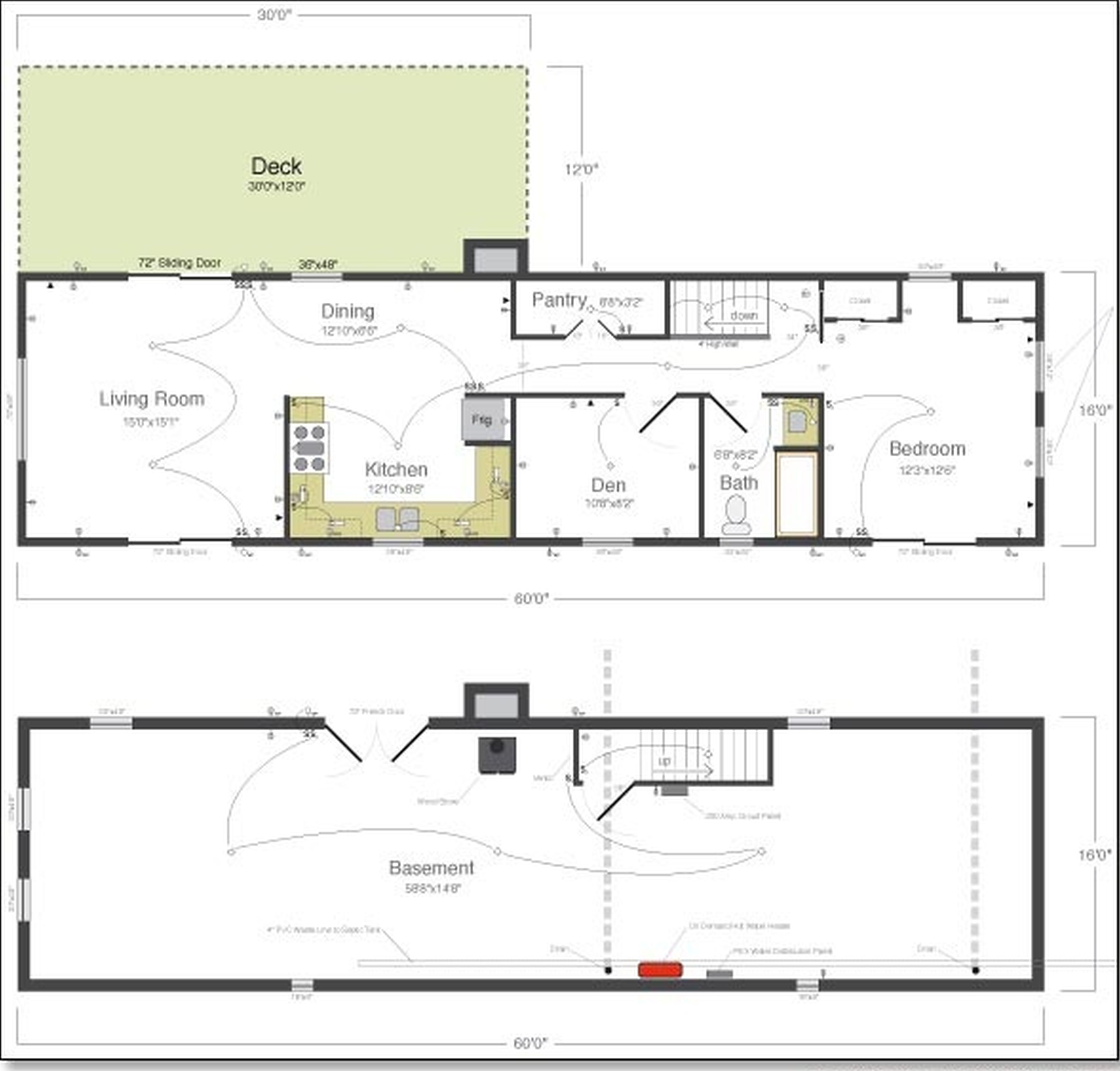 Two Story House Plans Small House With Basement Beautiful