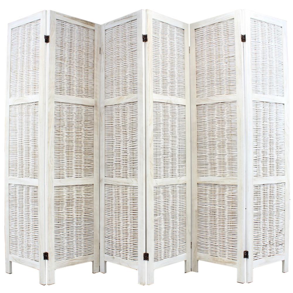 Partition Room Divider Vintage Shabby Look Folding Screen HWC-G30