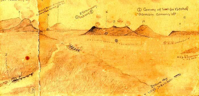 Lieutenant Nesham Sketch - This Day in History: Mar 7, 1902: Battle of Tweebosch, South Africa http://dingeengoete.blogspot.com/