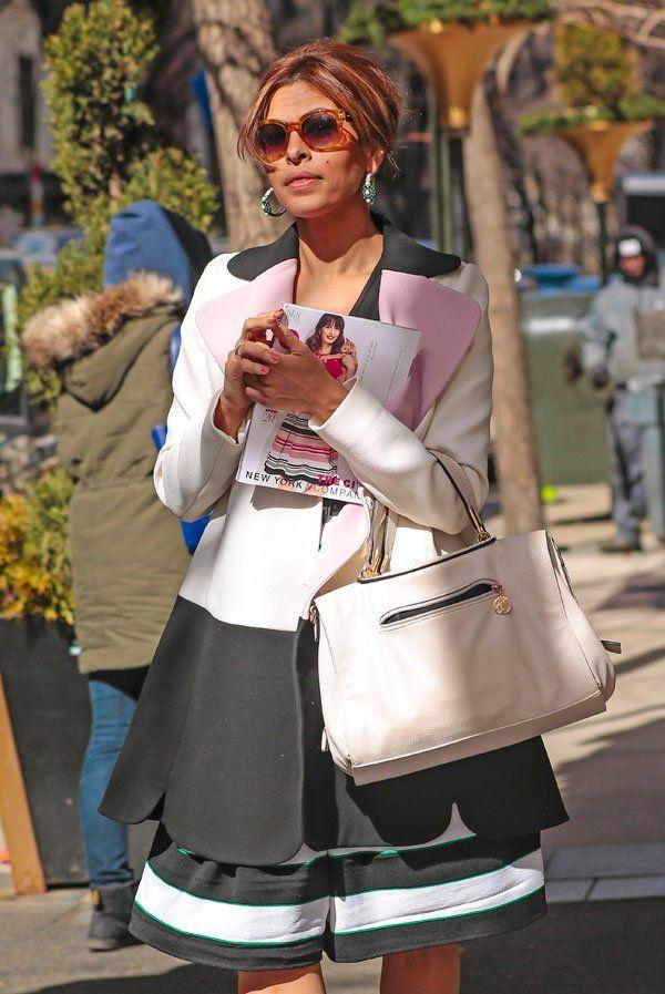 Eva Mendes Eva Mendes Kim Kardashian Kanye West Celebrity Street Style