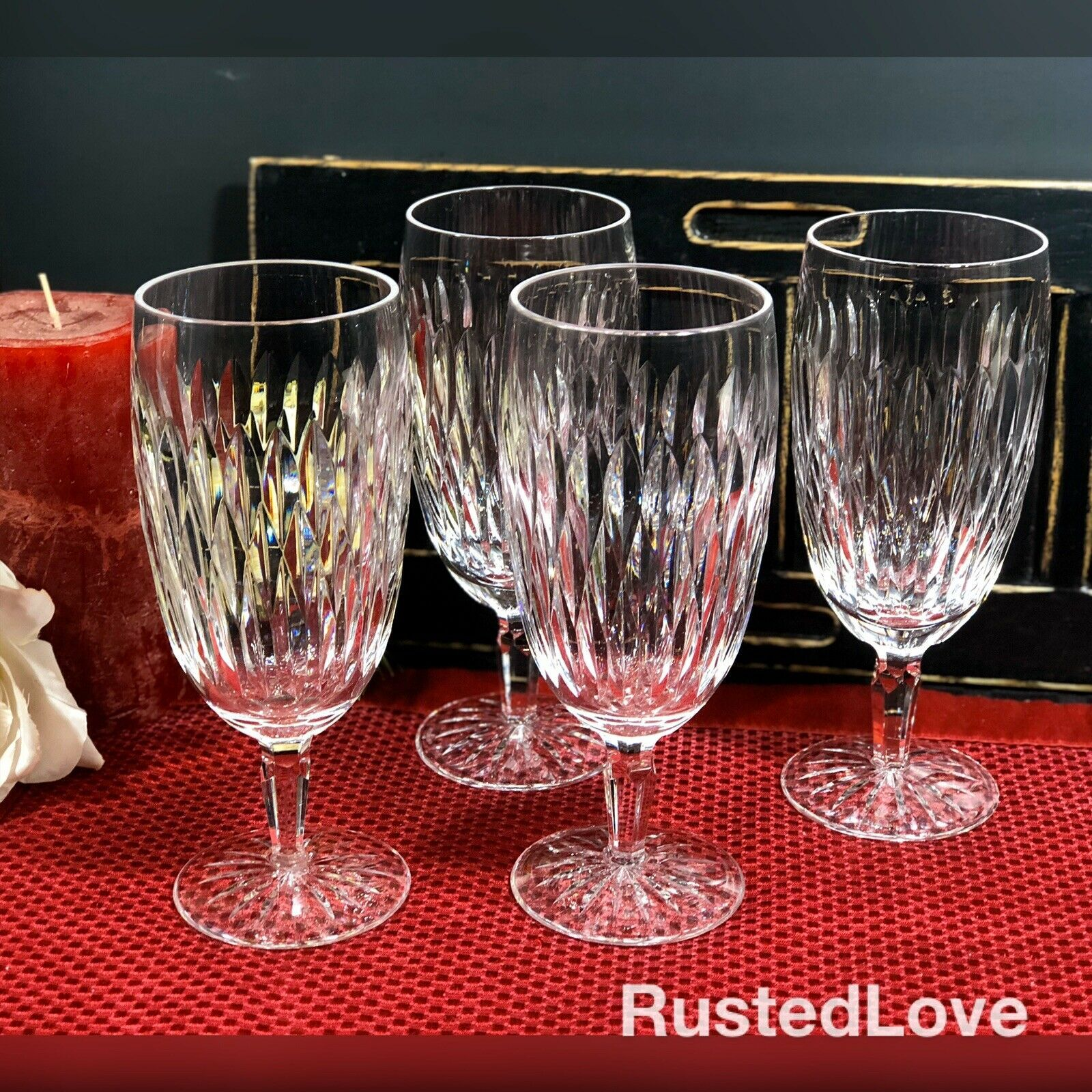 Waterford Rosemare Goblets Waterford Crystal Glasses Water Goblets Goblet
