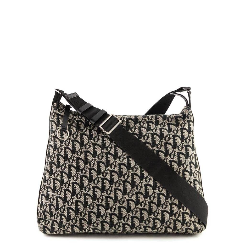 125076f43940 Dior Black and Beige Monogram Trotter Crossbody Bag - LOVE that BAG - Preowned  Authentic Designer Handbags