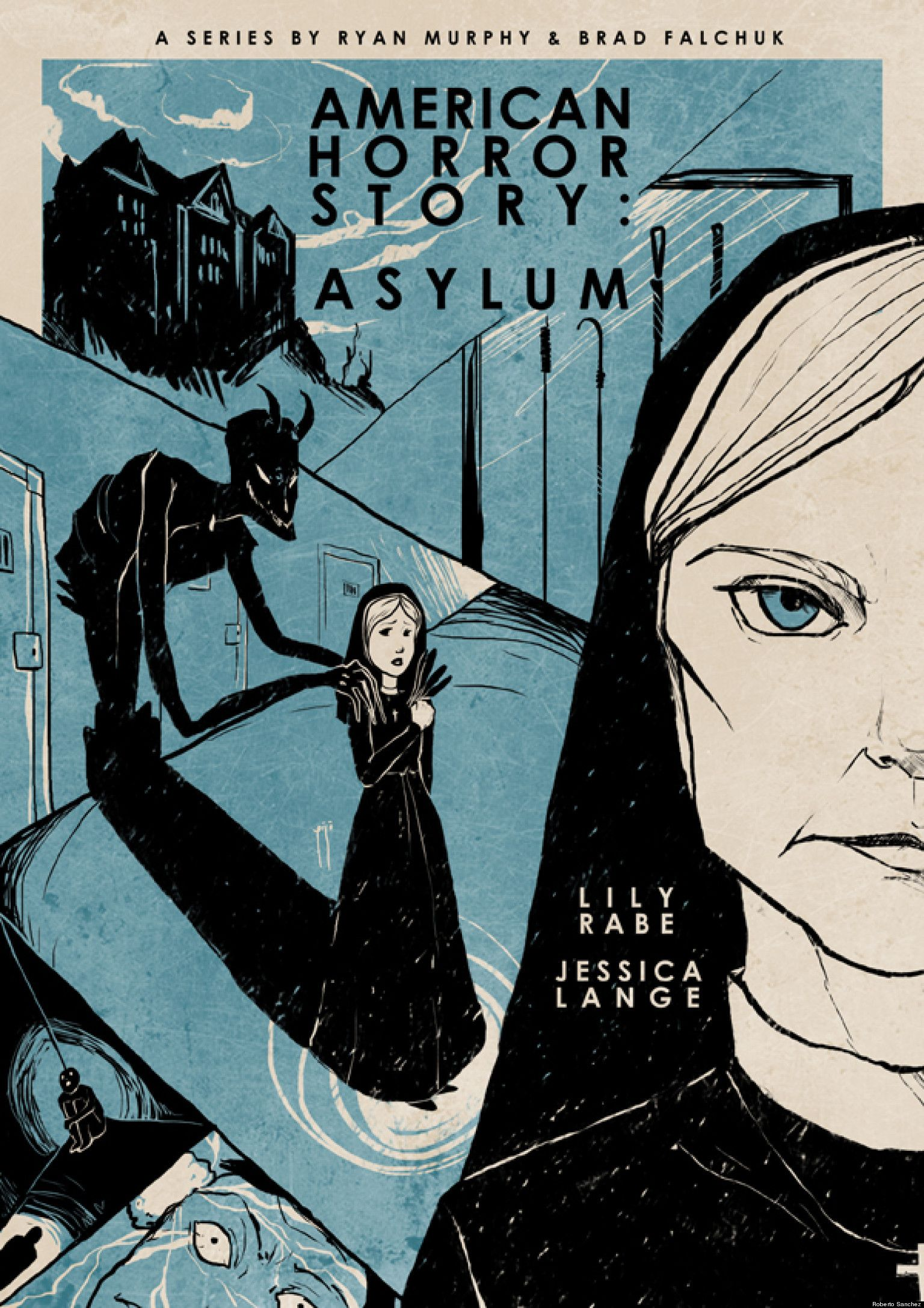 American Horror Story Asylum Vintage Style Poster With Images