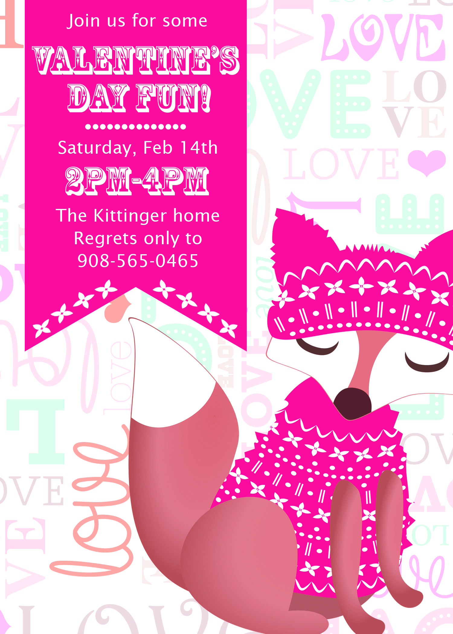 Valentine\'s Day party invitation design. $10.00. Make it your own at ...