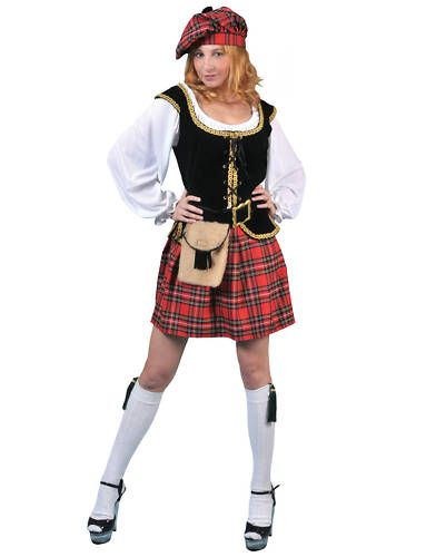 Scottish Lass Kilt Scots Womens Halloween Costume L | eBay  sc 1 st  Pinterest : scottish halloween costumes  - Germanpascual.Com