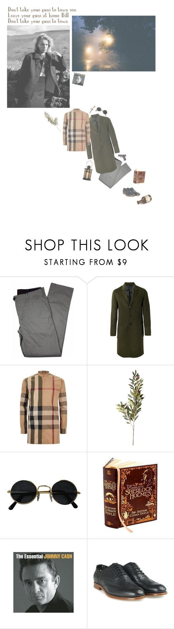 """""""billie"""" by whimsical-angst ❤ liked on Polyvore featuring Margaret Howell, Lords of Harlech, Joseph, Burberry, OKA and Church's"""