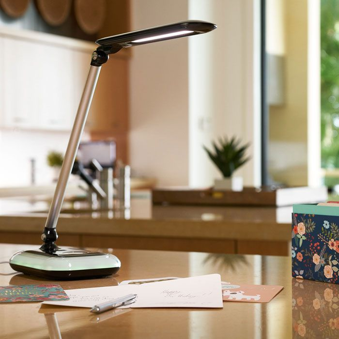 Part Of The New Ottlite Wellness Series Glow Led Desk Lamp W Color