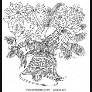 Adult Christmas Tree Coloring Pages