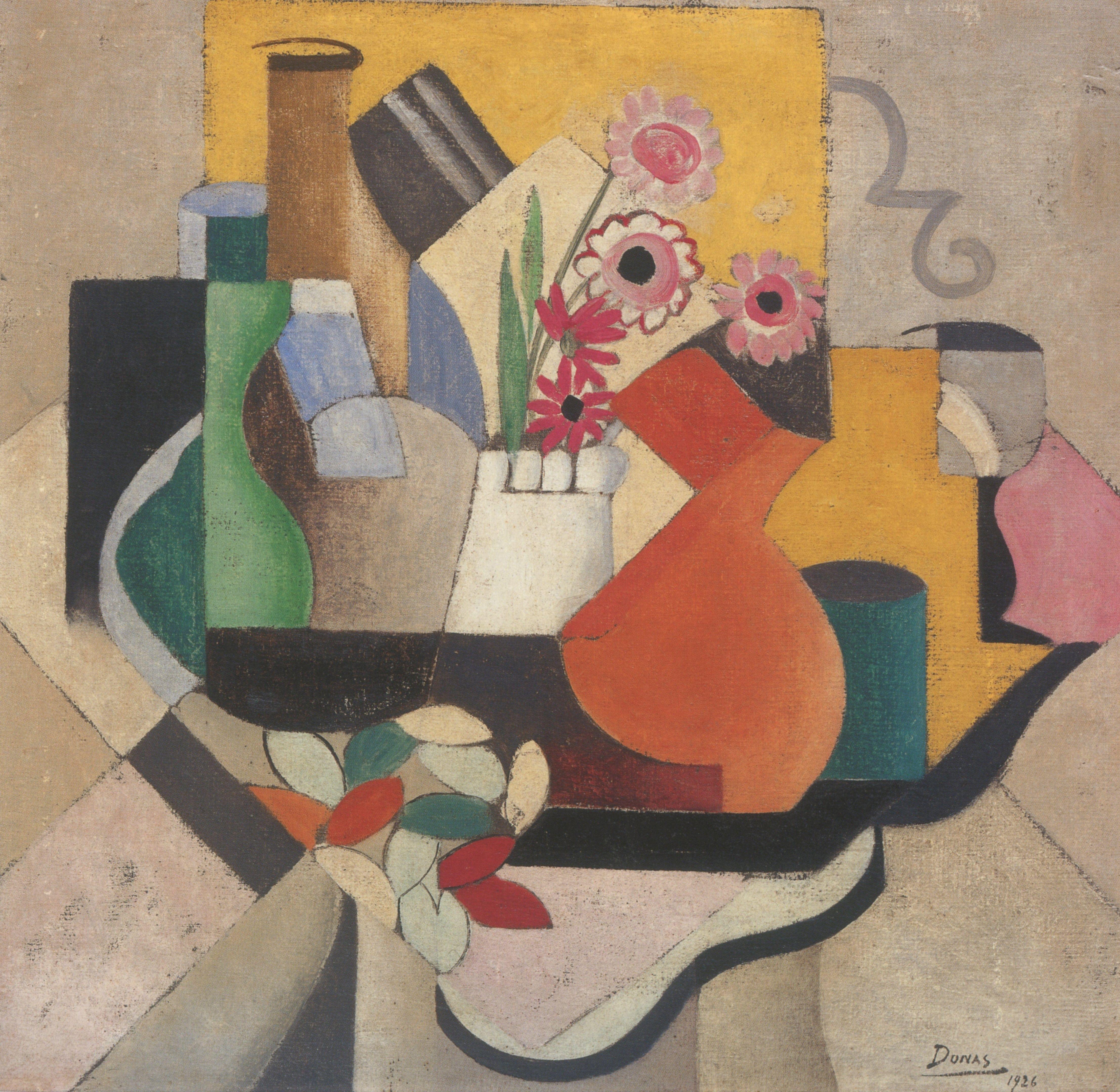 Marthe Donas Pots And Flowers 1926 Mskgent Museum Kunst Art