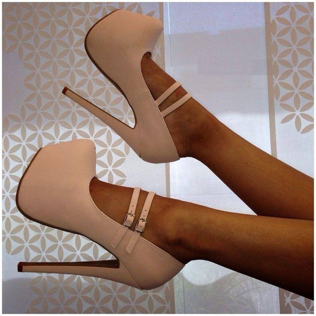 955e40259e66 Latest Black Cloth Double Ankle Strap Platform Heels
