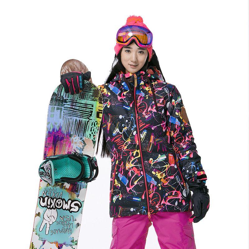 33dd83838b Gsou Snow new arrival Women Windproof Ski Jacket colorful Mountain  snowboard suit Waterproof winter sport coat