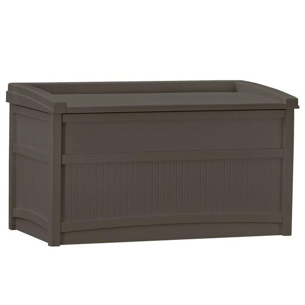 Suncast Horizontal 50 Gallon Stay Dry Outdoor Deck Storage Box