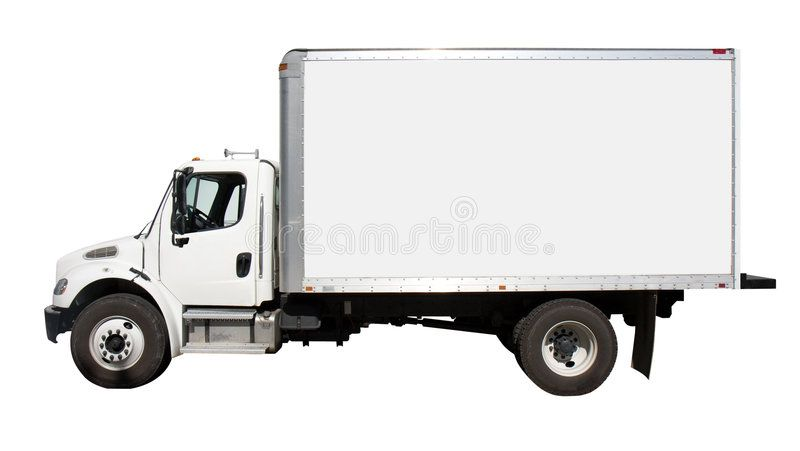 White Delivery Truck Side View Plain White Delivery Truck With
