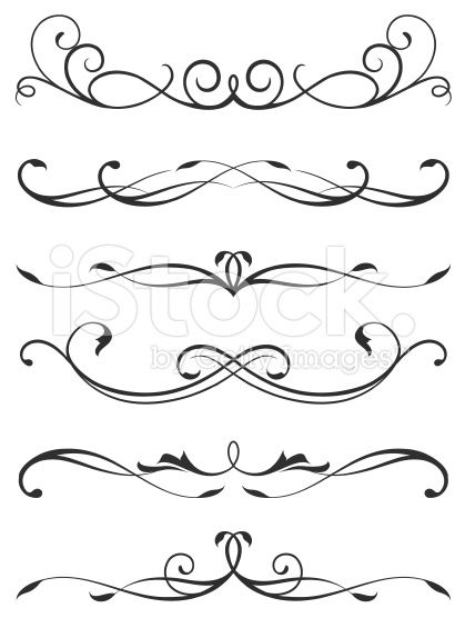 A Various Scroll Designs Scroll Design Swirly Designs Calligraphy Design