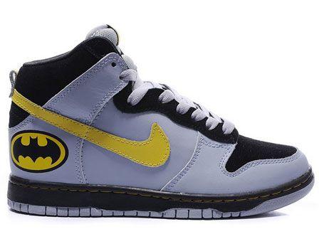 Batman The Dark Knight Nike Dunk High Tops Shoes : Cool High Tops Nikes  Dunks Adidas Converse Cartoon Shoes, Cheap For Sale