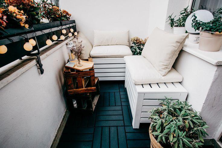 Accueil: balcon + 5 conseils (Masha Sedgwick) #smallbalconyfurniture