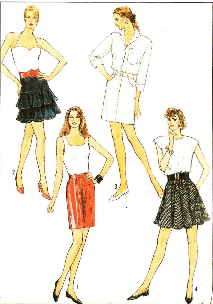 Simplicity 8544 misses retro 1980s pencil half circle and tiered simplicity 8544 misses retro 1980s pencil half circle and tiered skirts sewing pattern by jeuxipadfo Gallery