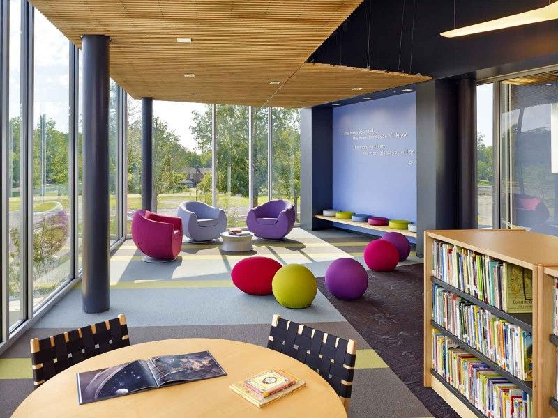 Buckingham County Primary Elementary Schools Va School Library Design School Interior Education Architecture