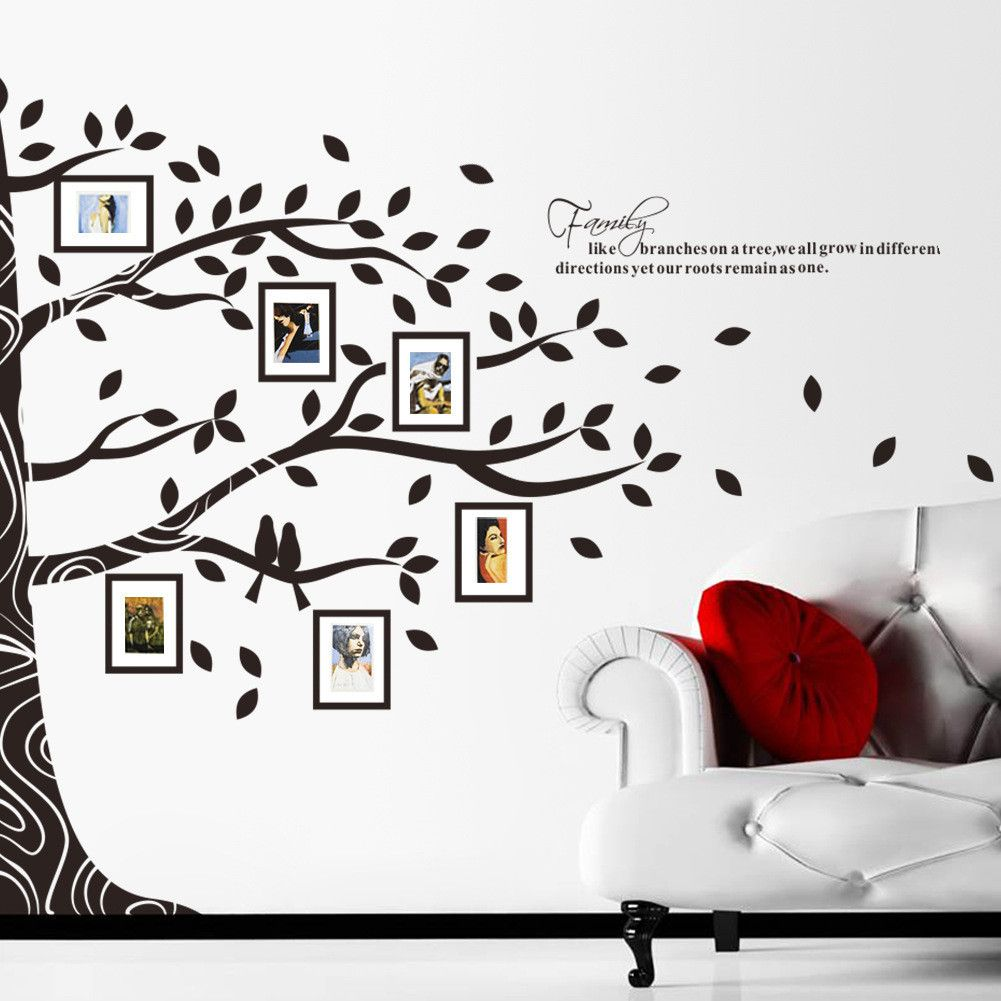 Tree wall decal photo frame wall decal   Wall decals, Walls and House
