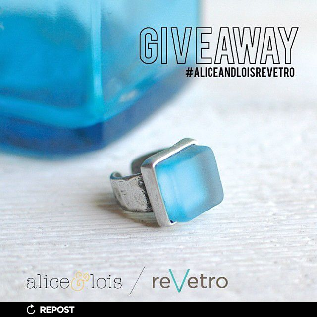 Alice & Lois Design Studios are hosting a giveaway with a reVetro Bombay Gin Ring. Details to enter are on the reVetro and Alice & Lois Instagram pages. Good Luck! // Follow reVetro on FaceBook and Instagram to read about their giveaways. #giveaway