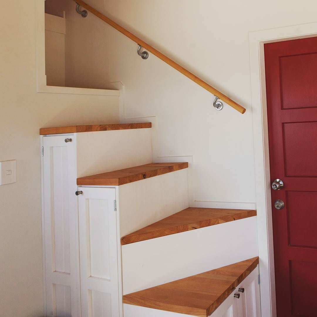Having storage space under the stairs really helps manage any ... on