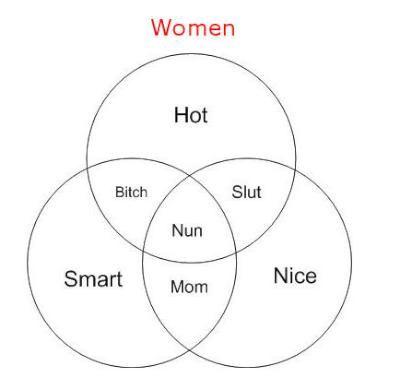 Women diagram diagrams graphs pinterest diagram venn women in a venn diagram ccuart Images