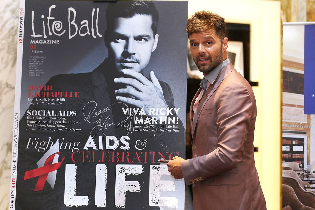 Singer Ricky Martin attends the 'Life Ball 2014 - Press Conference' at Hotel Imperial on May 31, 2014 in Vienna, Austria.