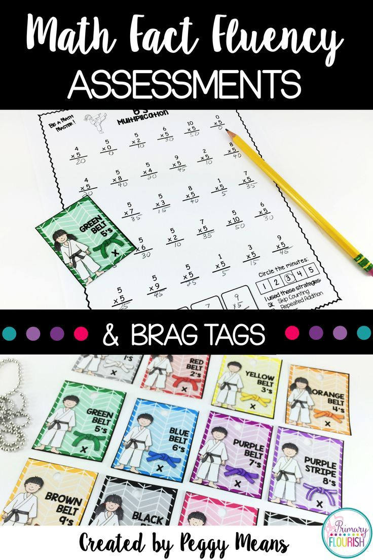 Multiplication Facts Assessments and Brag Tags - Karate Theme | Math ...