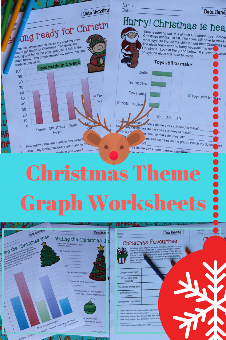 Christmas Math Data and Graph Worksheets Grade 3 | Graphs and data ...