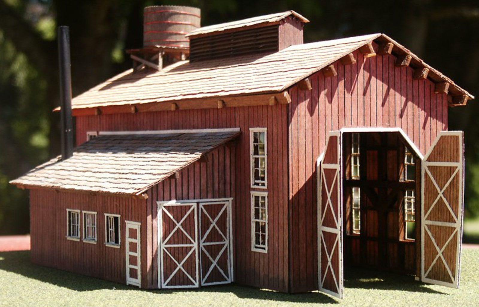 Single Stall Enginehouse Ho Hon3 Model Railroad Structure Wood Laser Kit Rsl2003
