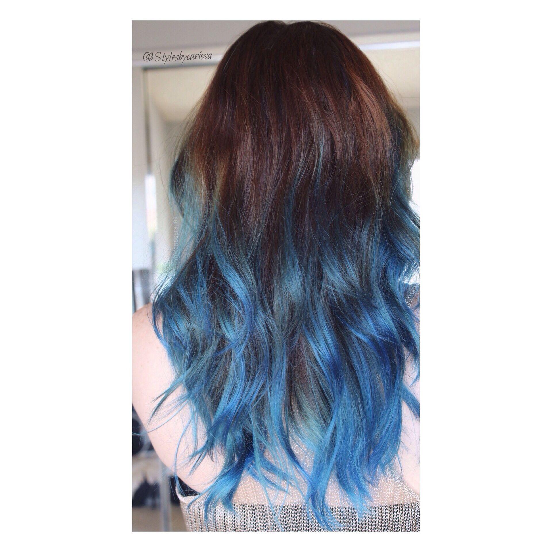 Blue Ombre Hair Blue Ombre Hair Blue Tips Hair Blue Hair