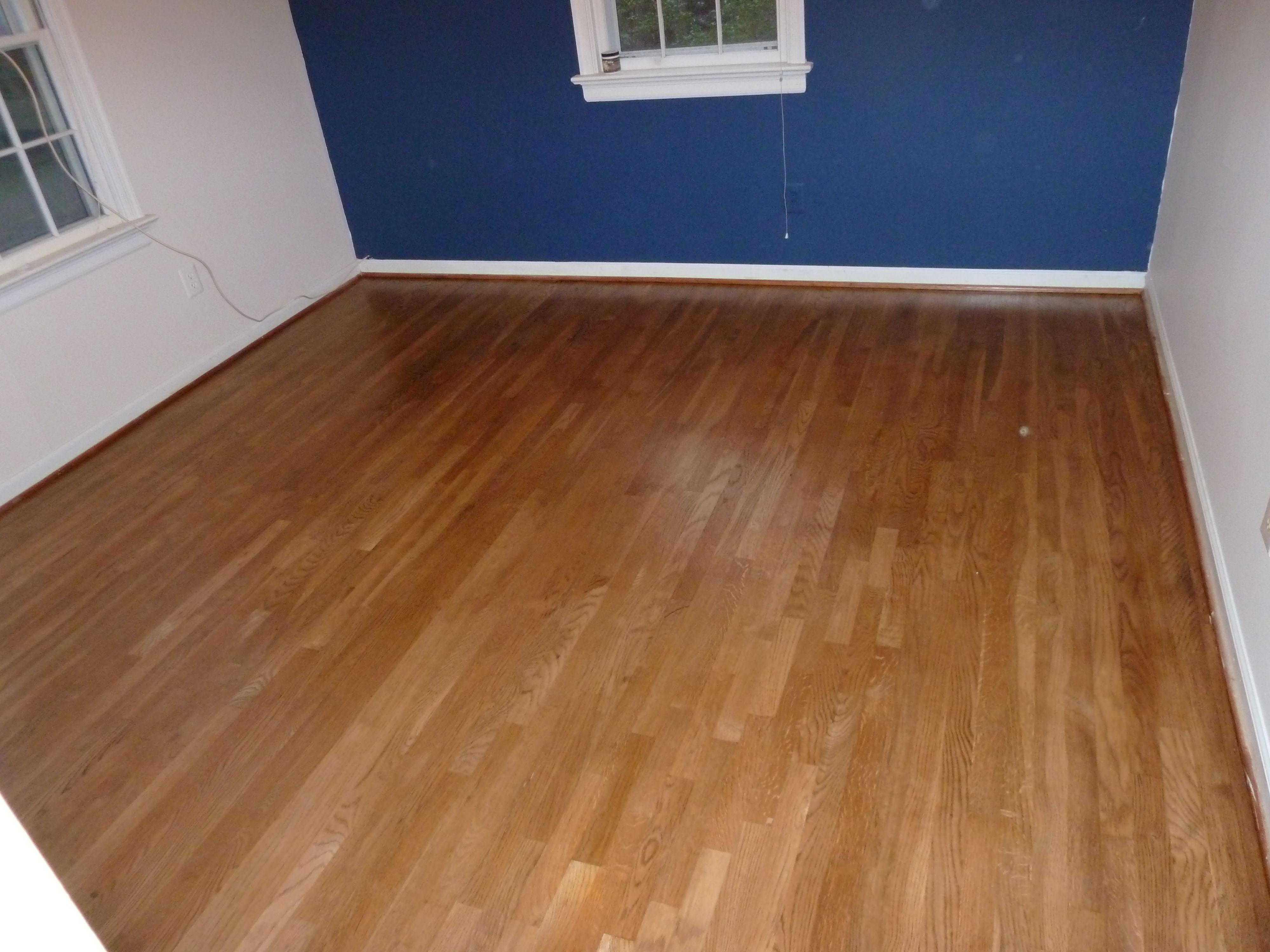 Red Oak Hardwood Floor Stained Golden Oak and coated with ...