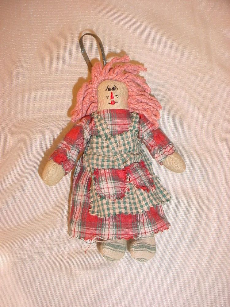 Boyds Sassafrass Raggedy Ann Cloth Doll Christmas Tree Ornament  6 Inch #Christmas