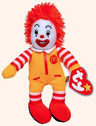 Ronald McDonald - Ty Teenie Beanie Babies - McDonalds promotion ... 1fab669fe17d