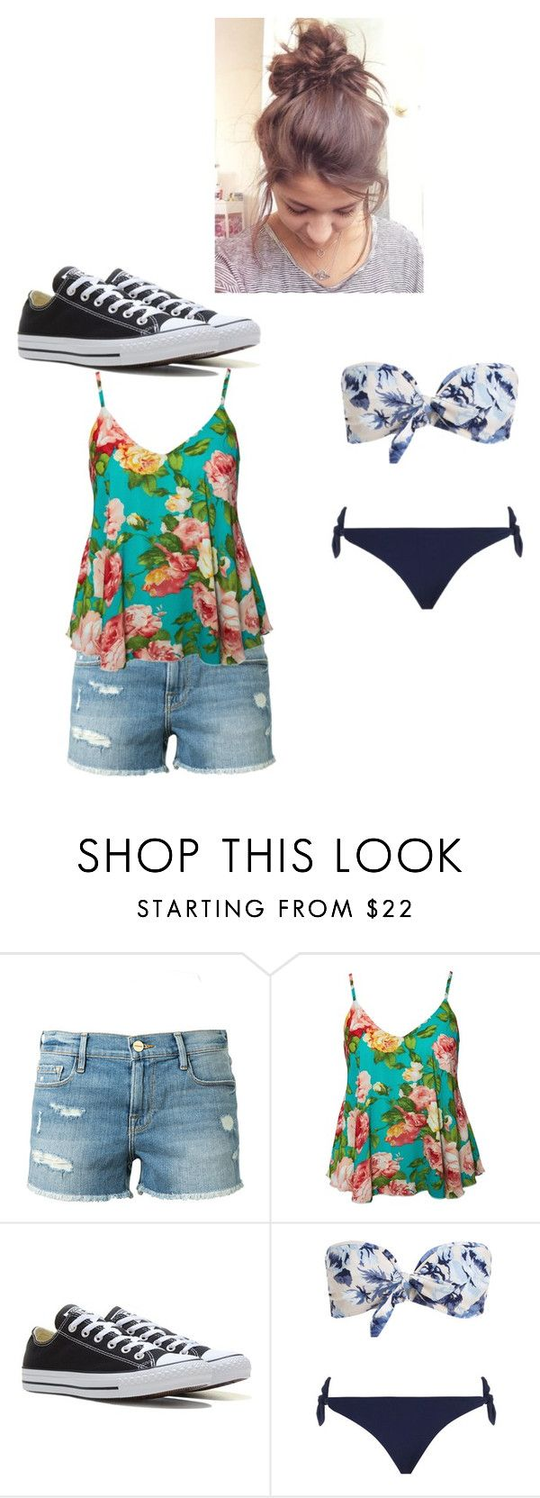 """""""First day of Cuban Vacation"""" by netflixislife02 ❤ liked on Polyvore featuring Frame, Oneness, Converse and Zimmermann"""
