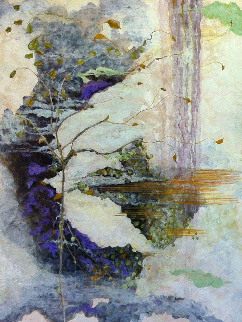 """Moonlight Rain"" Acrylic and pencil, 36""x48"" | Art ..."