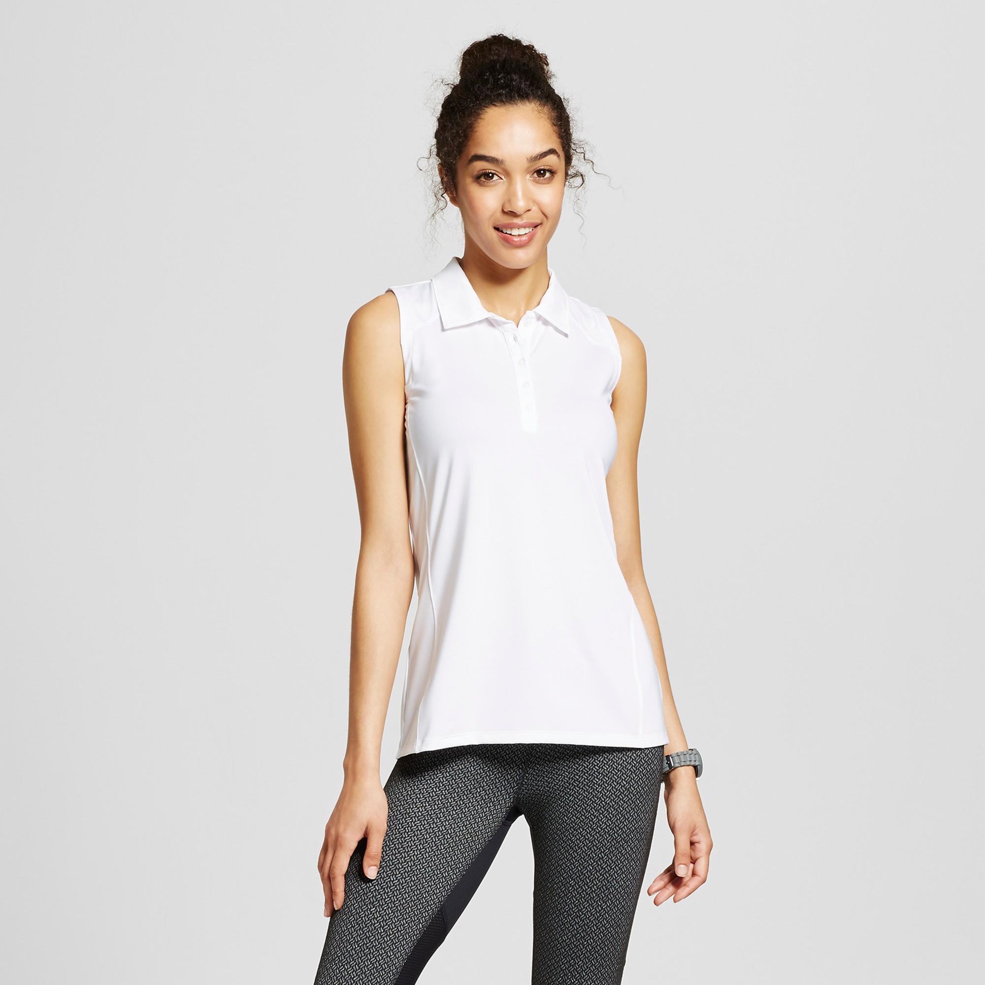 8f2eda69 Women's Golf Sleeveless Polo Shirt - C9 Champion - White Xxl   Products
