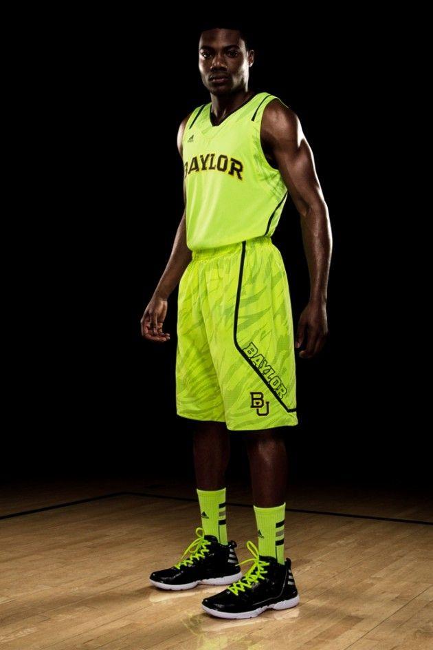 85bf9e5cc06 Baylor's New Highlighter Green Basketball Uniforms   Sic em Bears ...