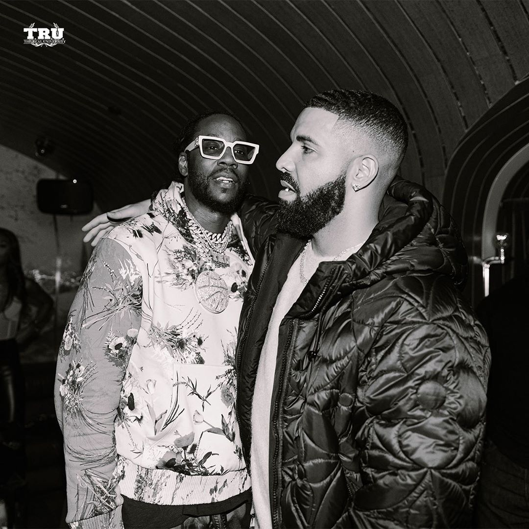 2 Chainz Drake At The Yams Day After Party Hot Rappers John Legend Kids Aubrey Drake