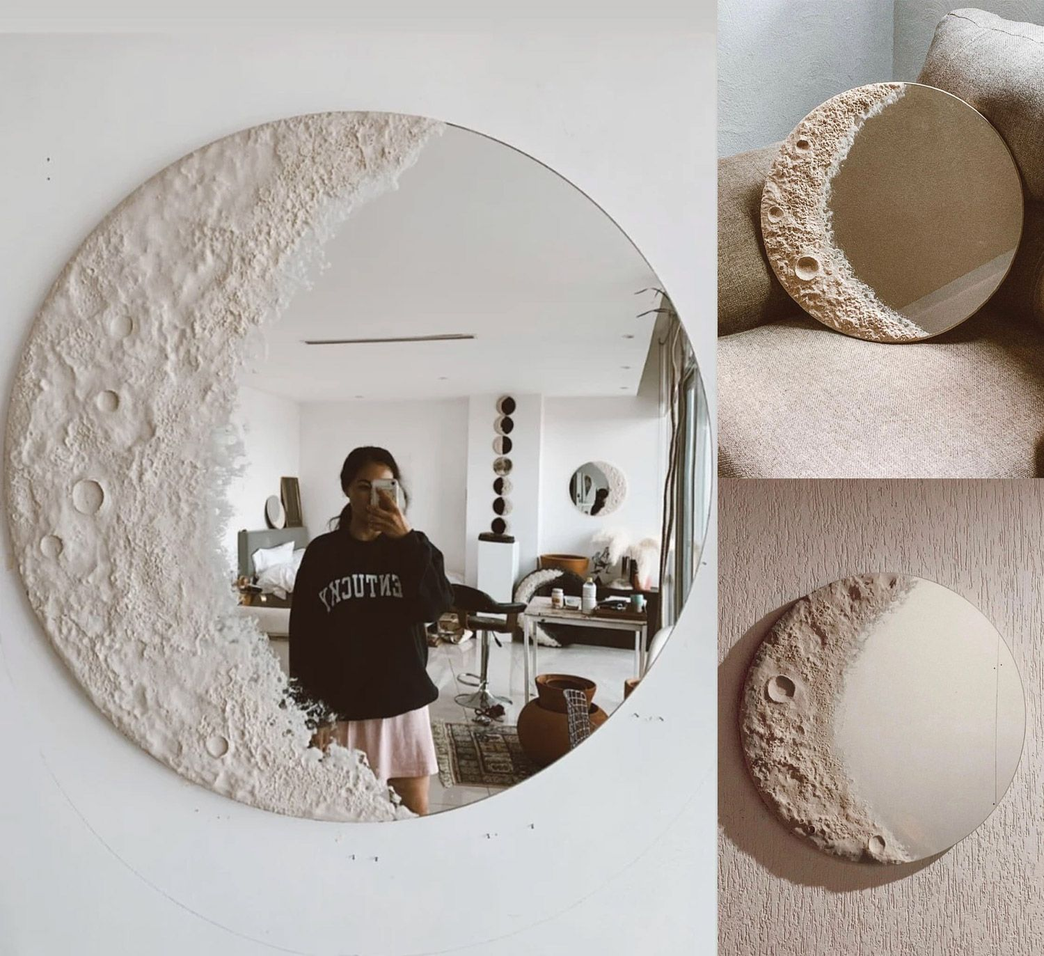 This Beautiful Lunar Mirror Is Made To Look Like A Crescent Moon In 2020 Aesthetic Room Decor Aesthetic Bedroom Aesthetic Rooms