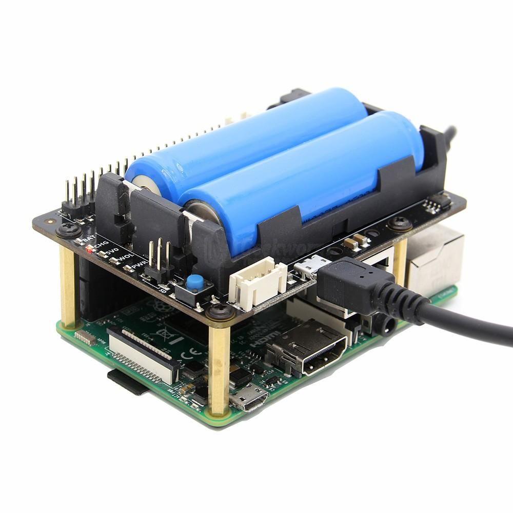 Raspberry Pi X720 UPS HAT (18650 Power)+Safe Shutdown+Wake