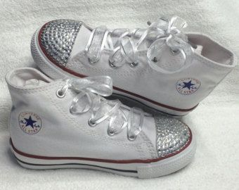 Girls Shoes High Top Blinged Converse Wedding Shoes. Perfect for ...
