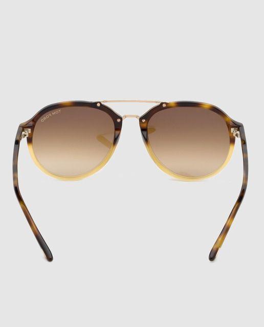 Tom Ford Gafas de sol de hombre en acetato habana con