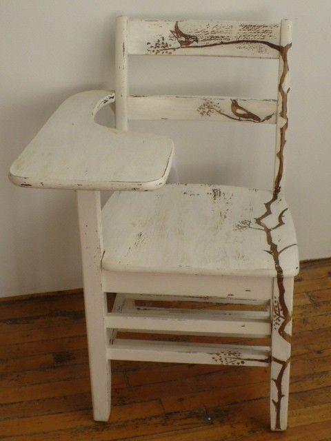 upcycled vintage school desk chair pinterest vintage school