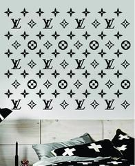 Photo of Louis Vuitton Logo Pattern Wall Decal Home Decor Bedroom Room Vinyl Sticker Art Quote Designer Brand Luxury Girls Cute Expensive LV